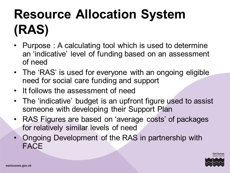 Resource Allocation System (RAS)