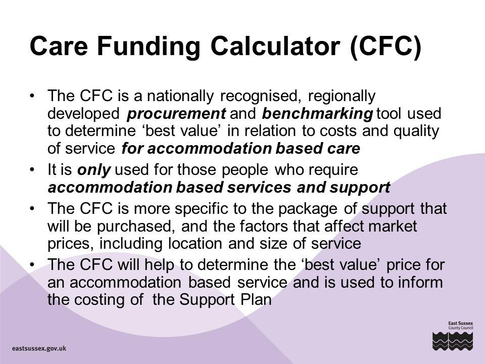 Care Funding Calculator (CFC)