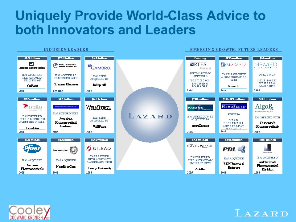Uniquely Provide World-Class Advice to both Innovators and Leaders