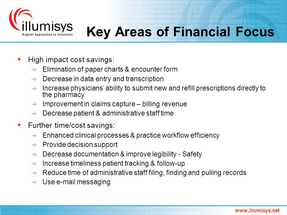 Key Areas of Financial Focus