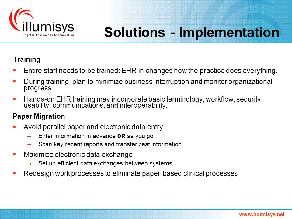 Solutions - Implementation