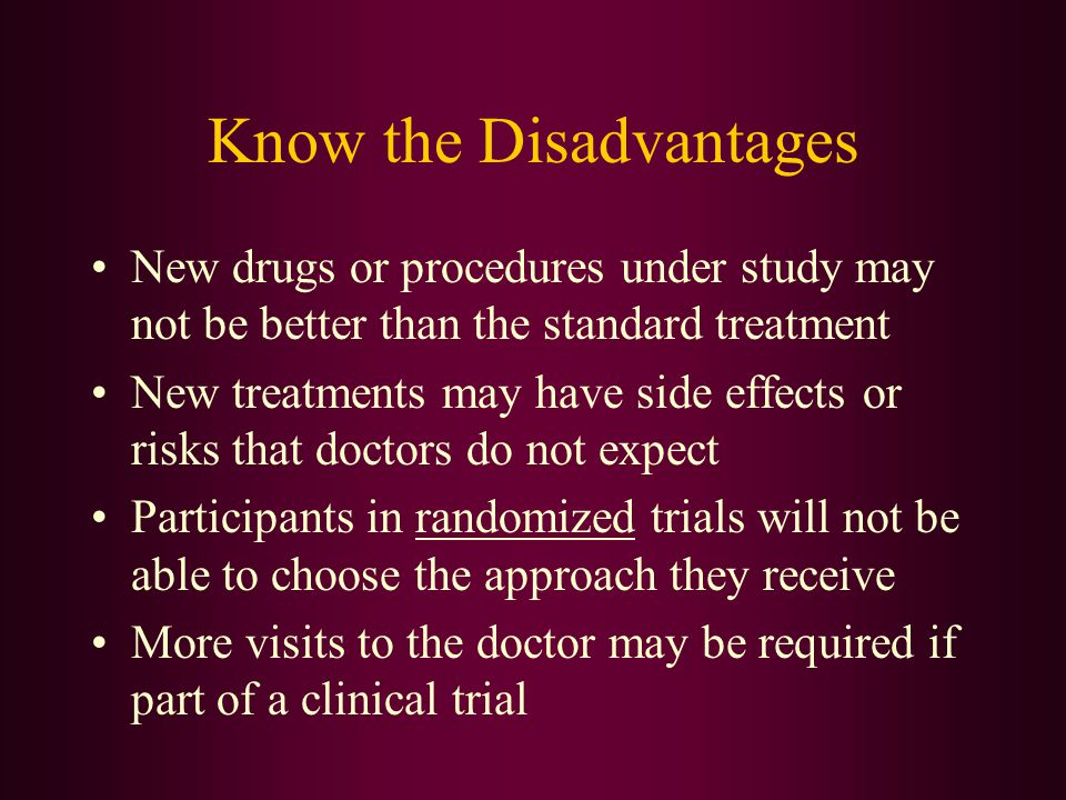 Know the Disadvantages