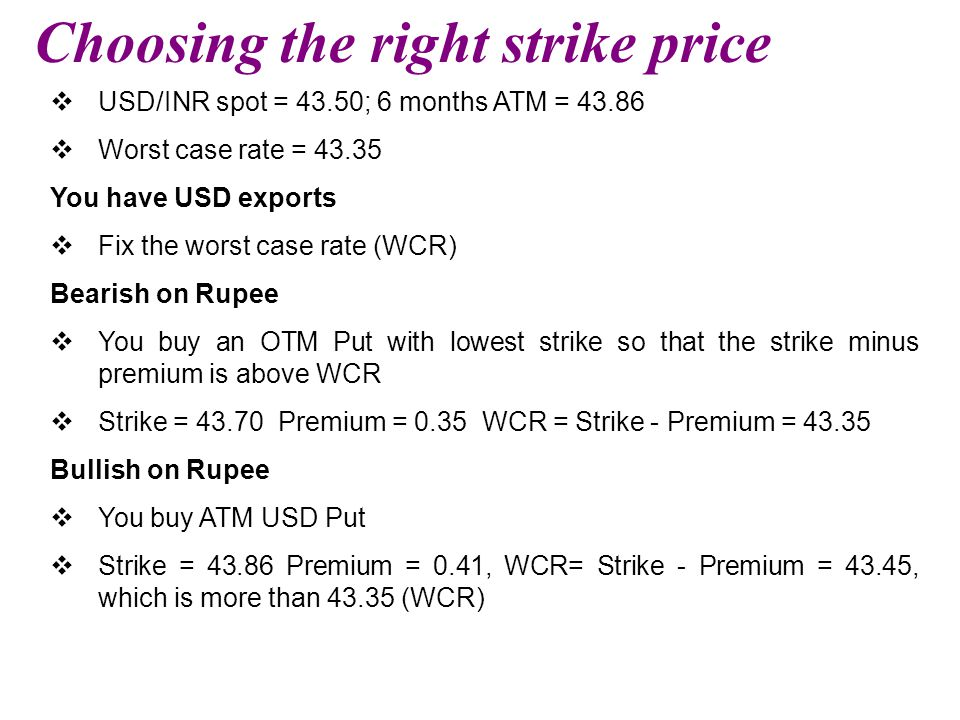 Choosing the right strike price