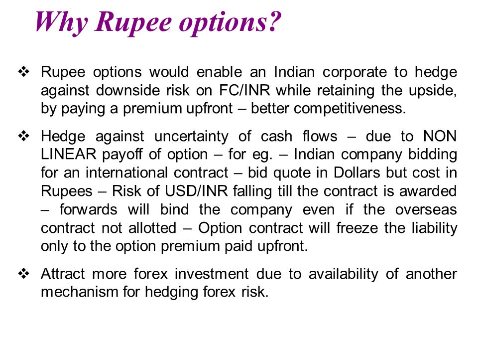 Why Rupee options