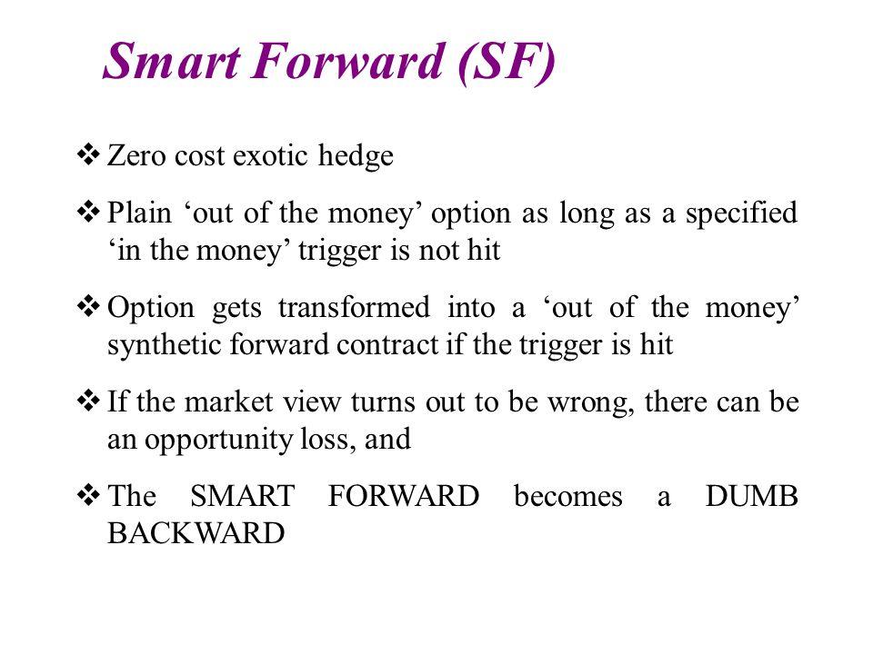 Smart Forward (SF) Zero cost exotic hedge