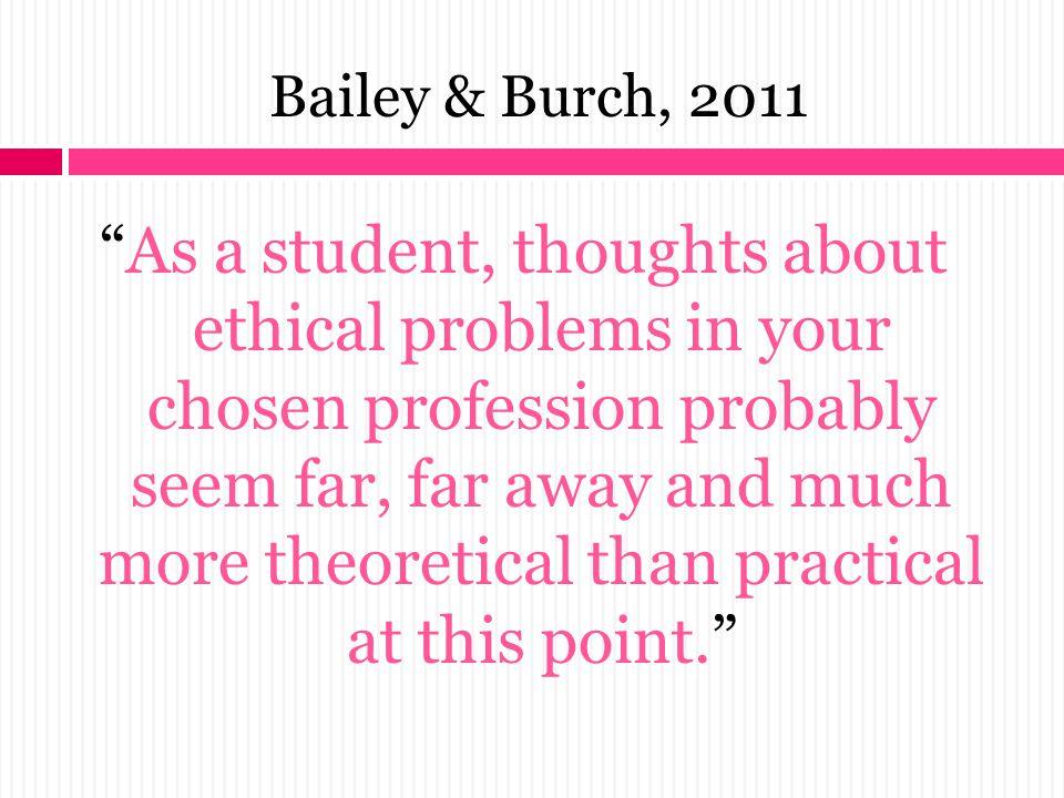 Bailey & Burch, 2011