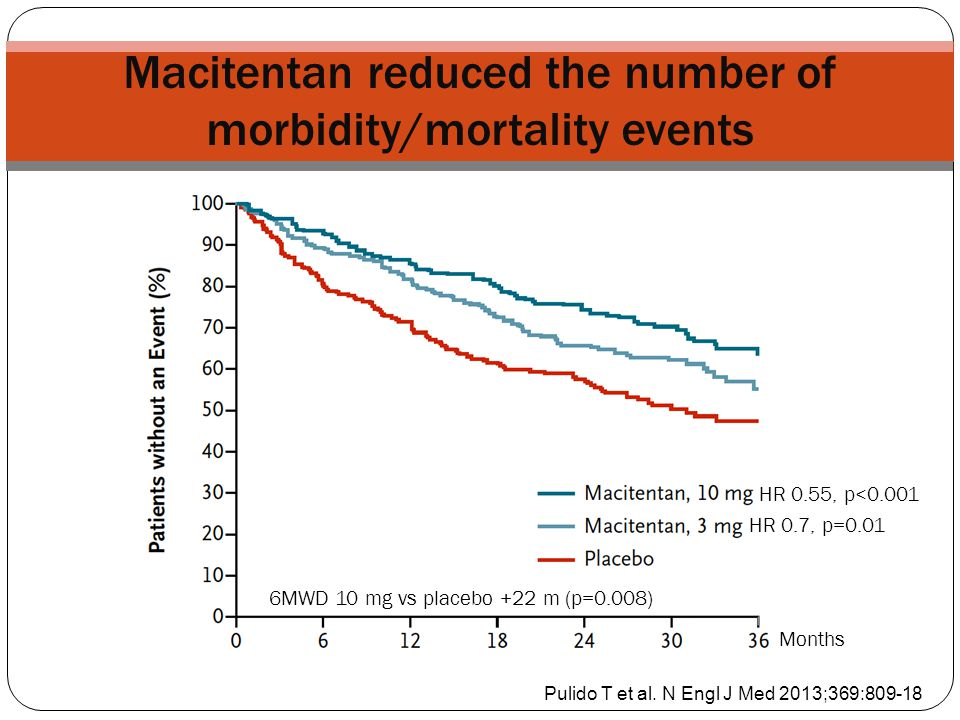 Macitentan reduced the number of morbidity/mortality events