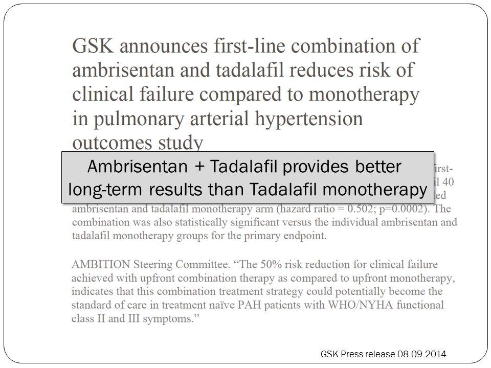 Ambrisentan + Tadalafil provides better