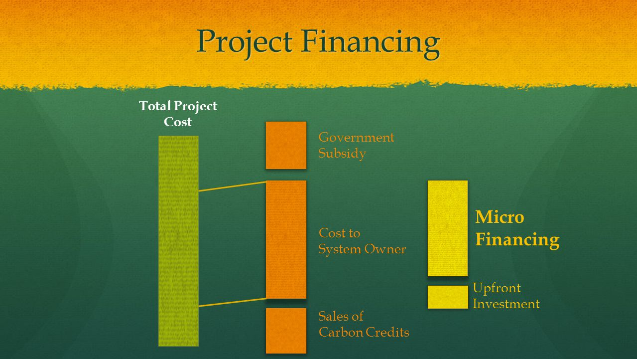 Project Financing Micro Financing Total Project Cost
