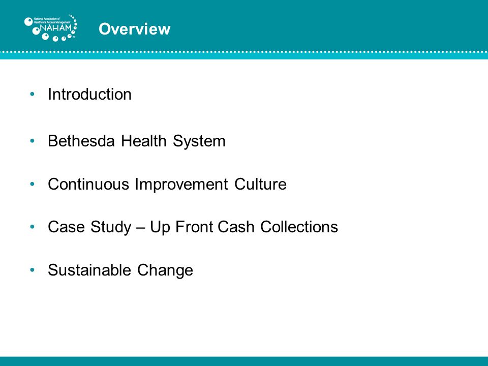 Bethesda Health System Continuous Improvement Culture