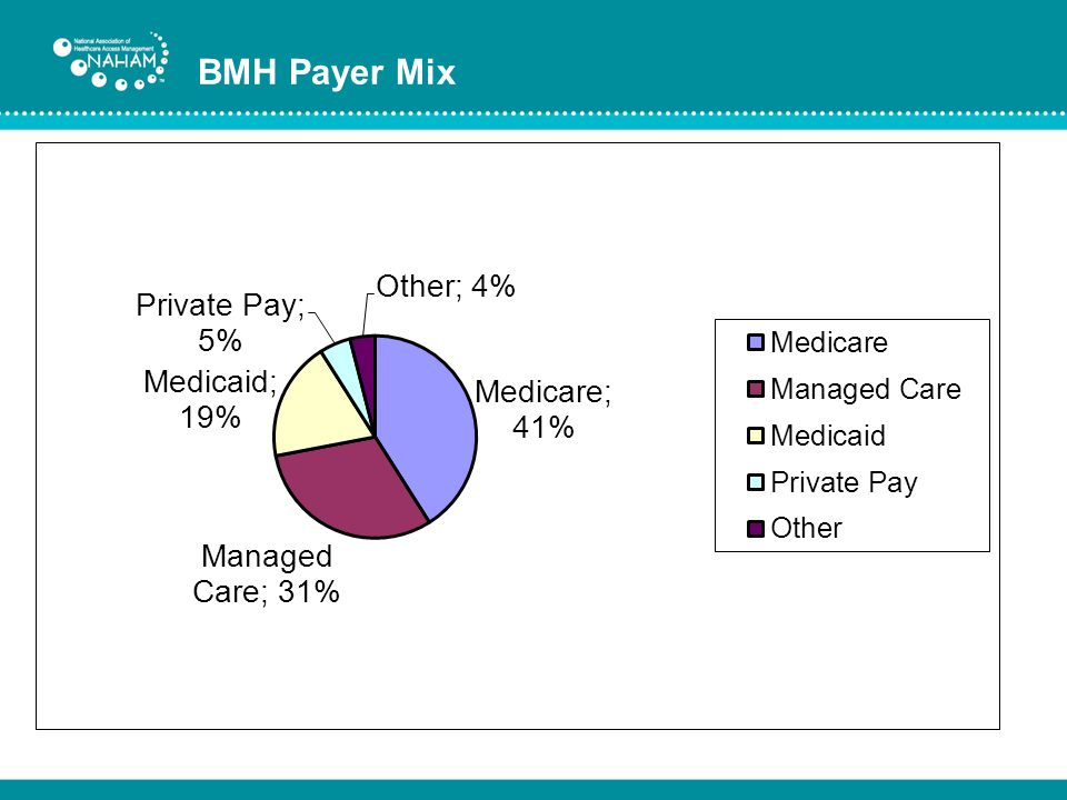 BMH Payer Mix Our payer mix