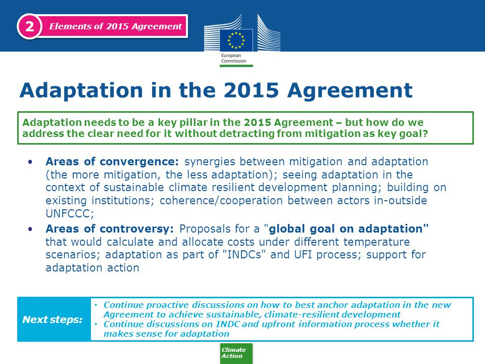 Adaptation in the 2015 Agreement