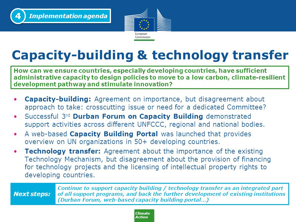 Capacity-building & technology transfer