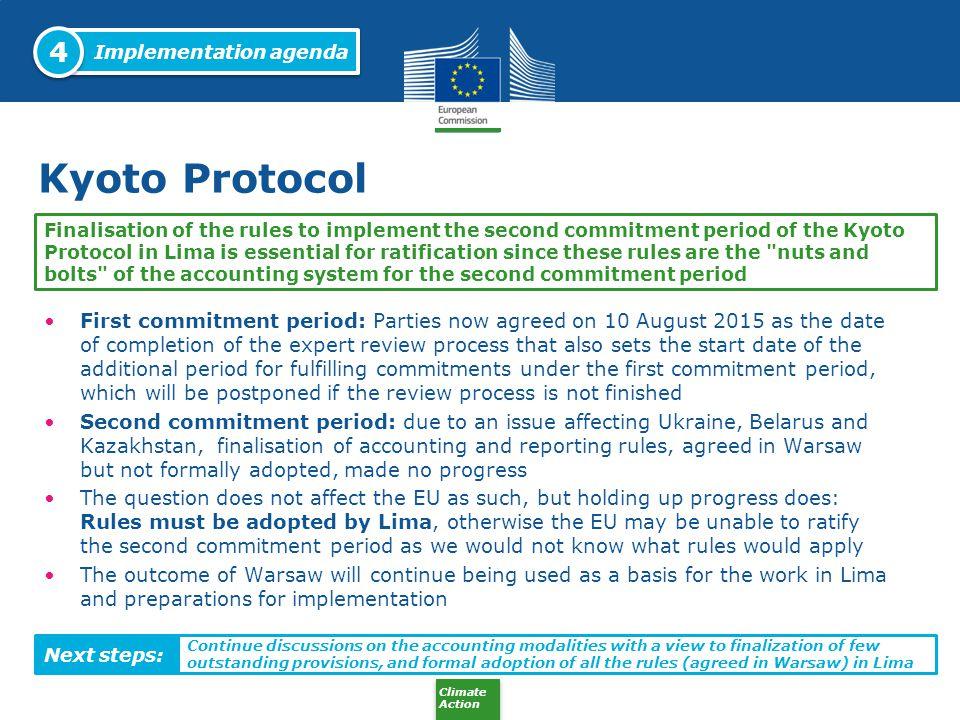 4 Implementation agenda. Kyoto Protocol.