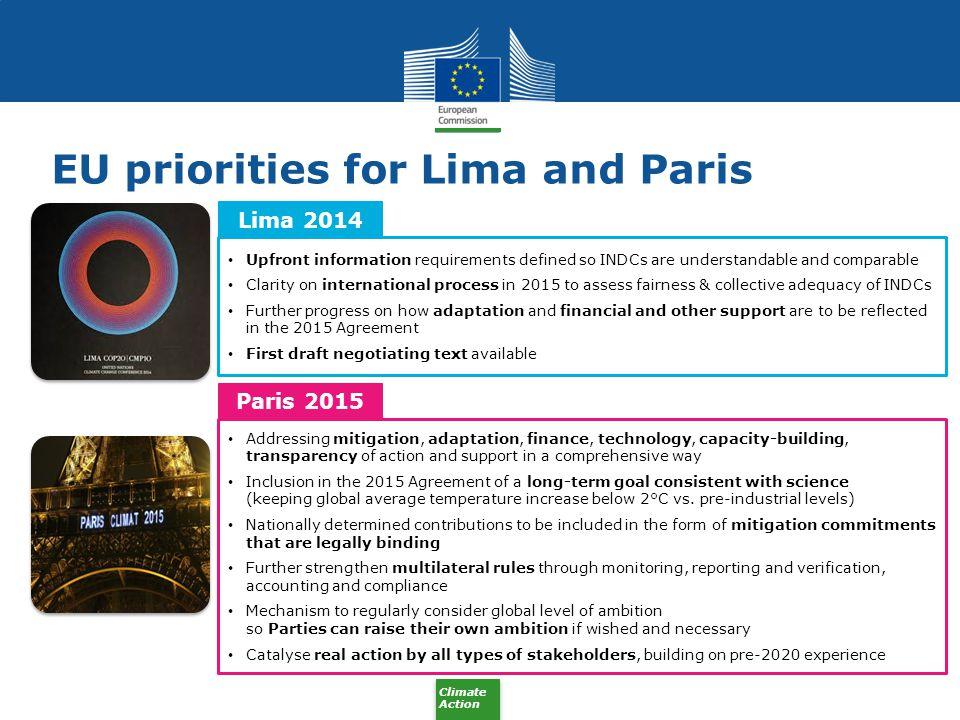 EU priorities for Lima and Paris