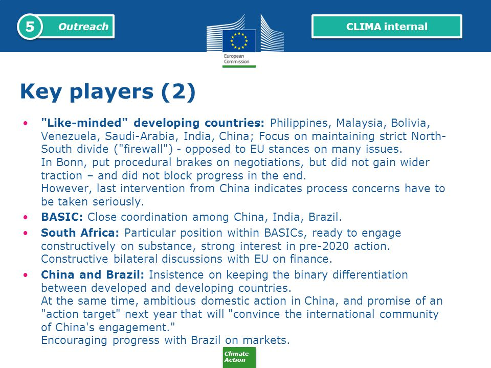 5 Outreach. CLIMA internal. Key players (2)