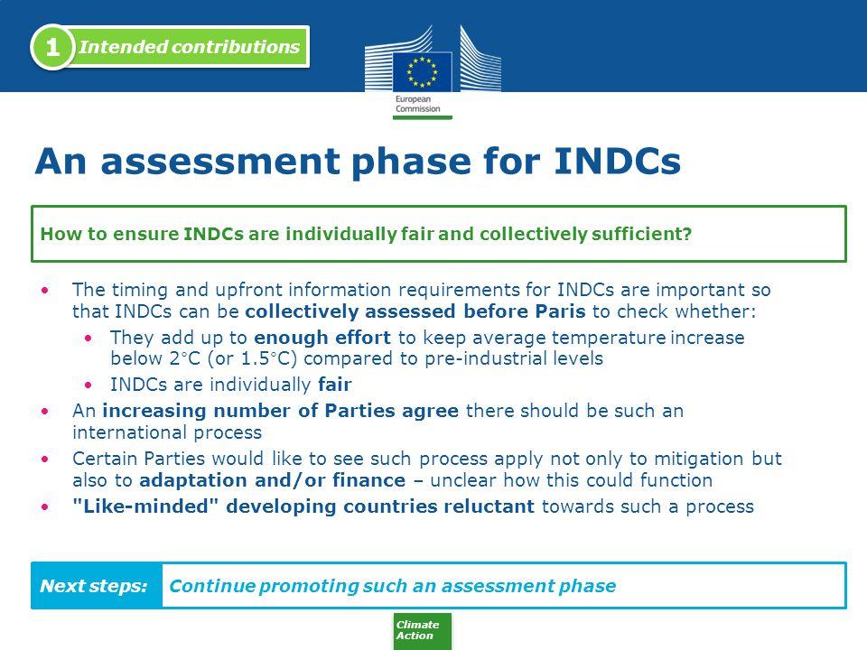 An assessment phase for INDCs