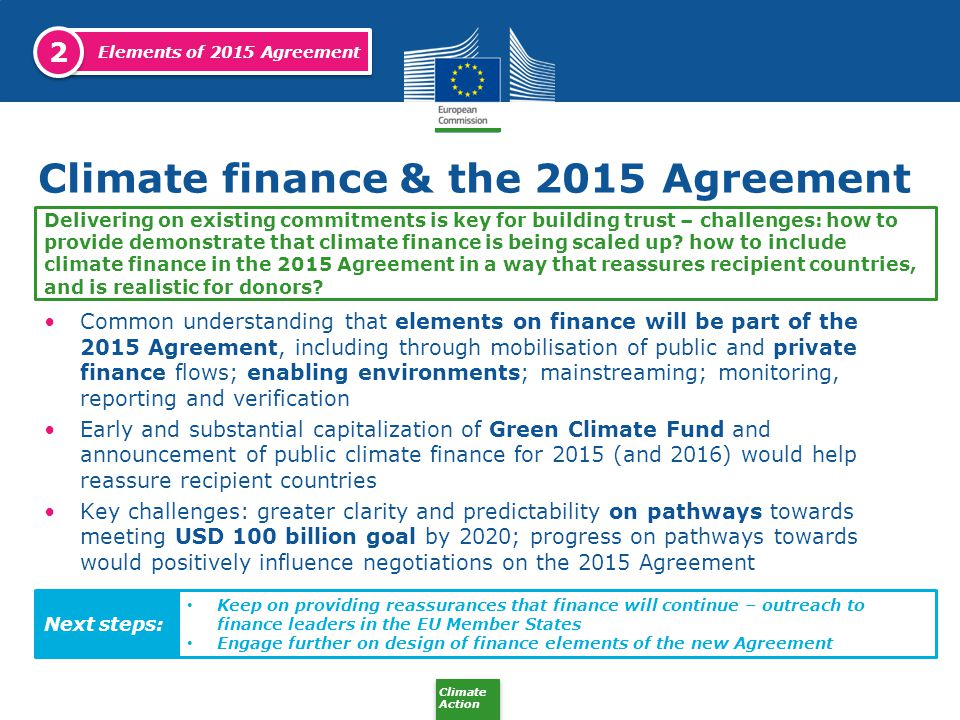 Climate finance & the 2015 Agreement
