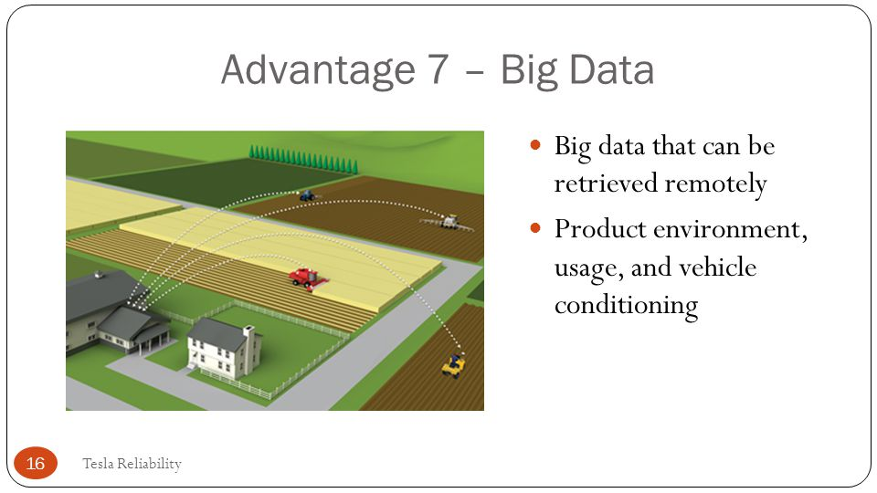 Advantage 7 – Big Data Big data that can be retrieved remotely