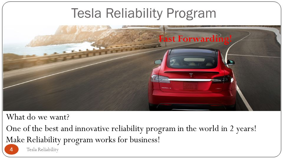 Tesla Reliability Program