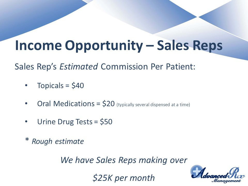 Income Opportunity – Sales Reps