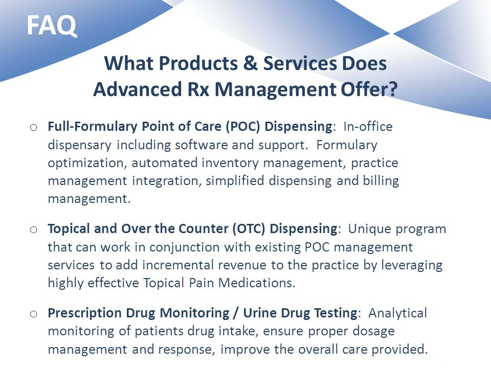 What Products & Services Does Advanced Rx Management Offer