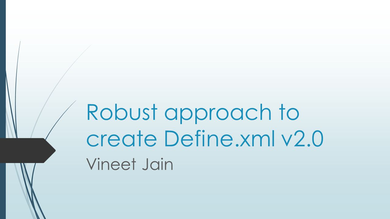 Robust approach to create Define.xml v2.0