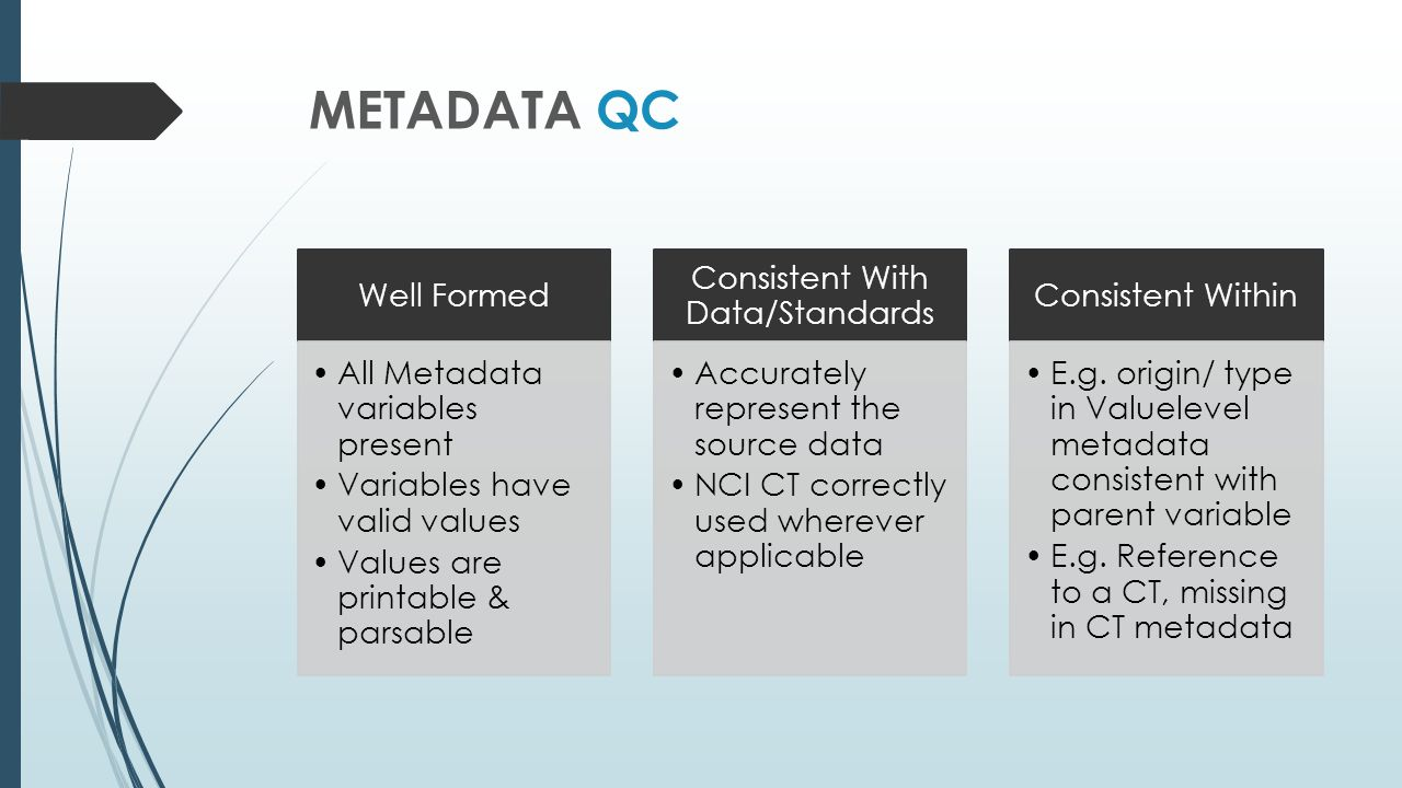 Consistent With Data/Standards