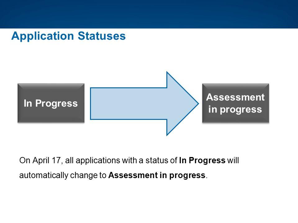 Assessment in progress
