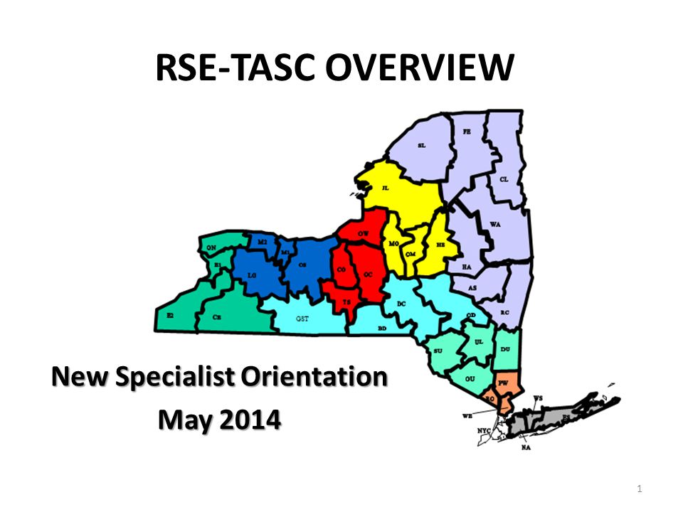 New Specialist Orientation May 2014