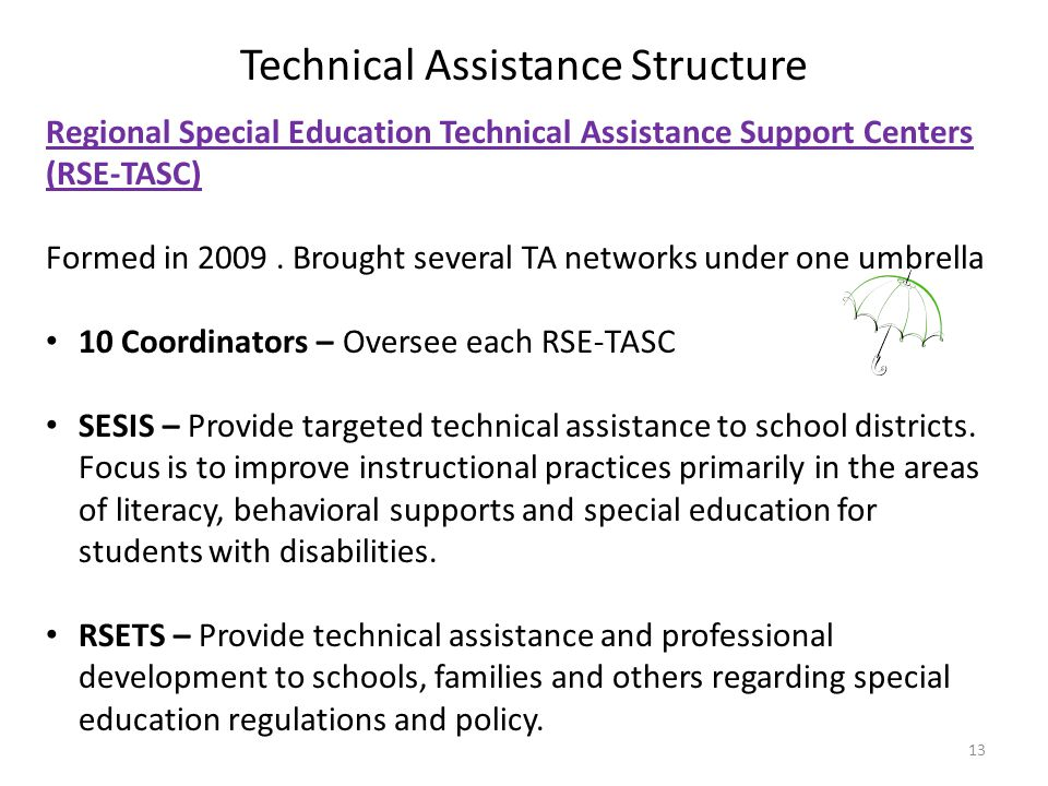Technical Assistance Structure
