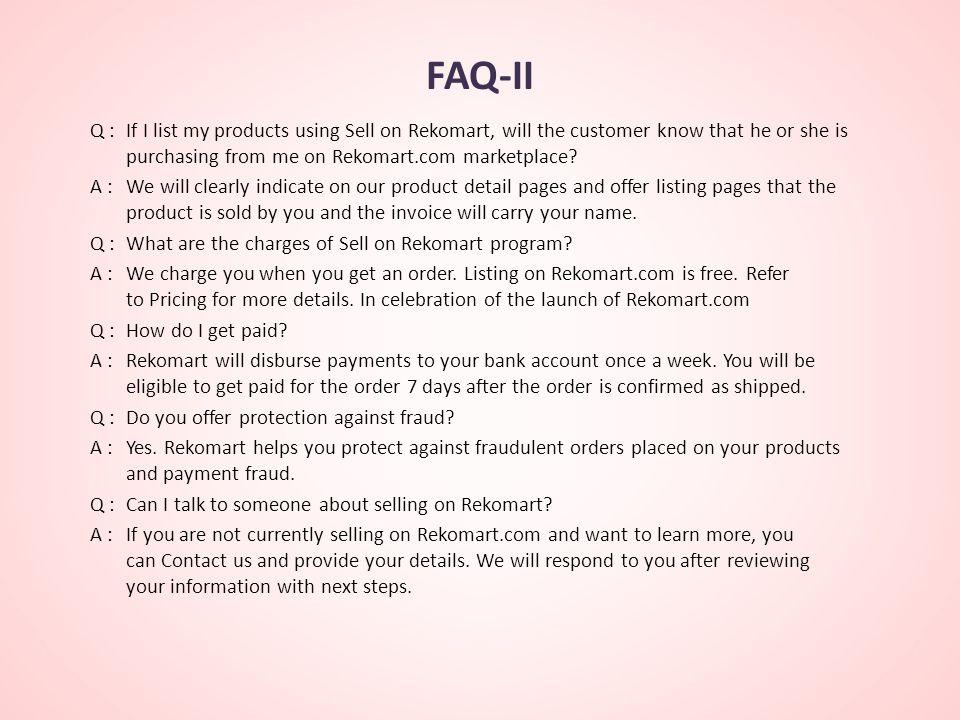 FAQ-II