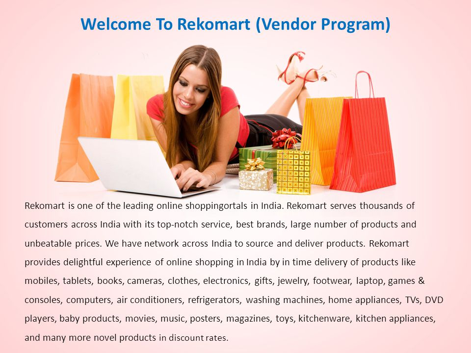 Welcome To Rekomart (Vendor Program)