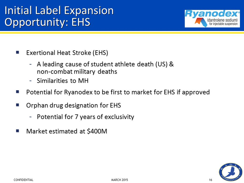 Initial Label Expansion Opportunity: EHS