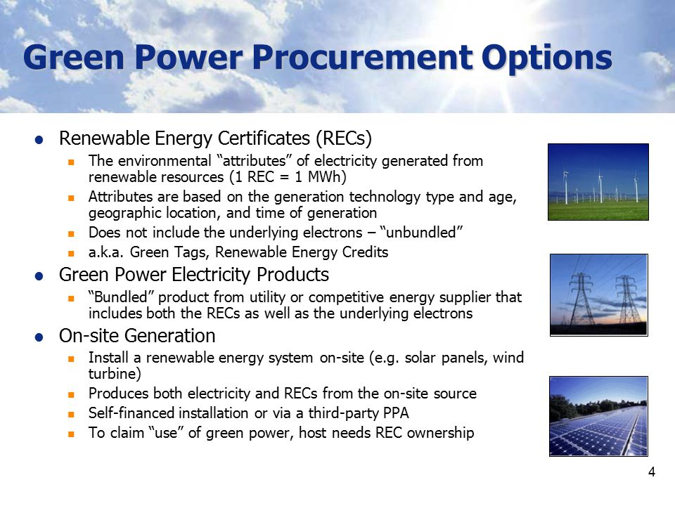 Green Power Procurement Options