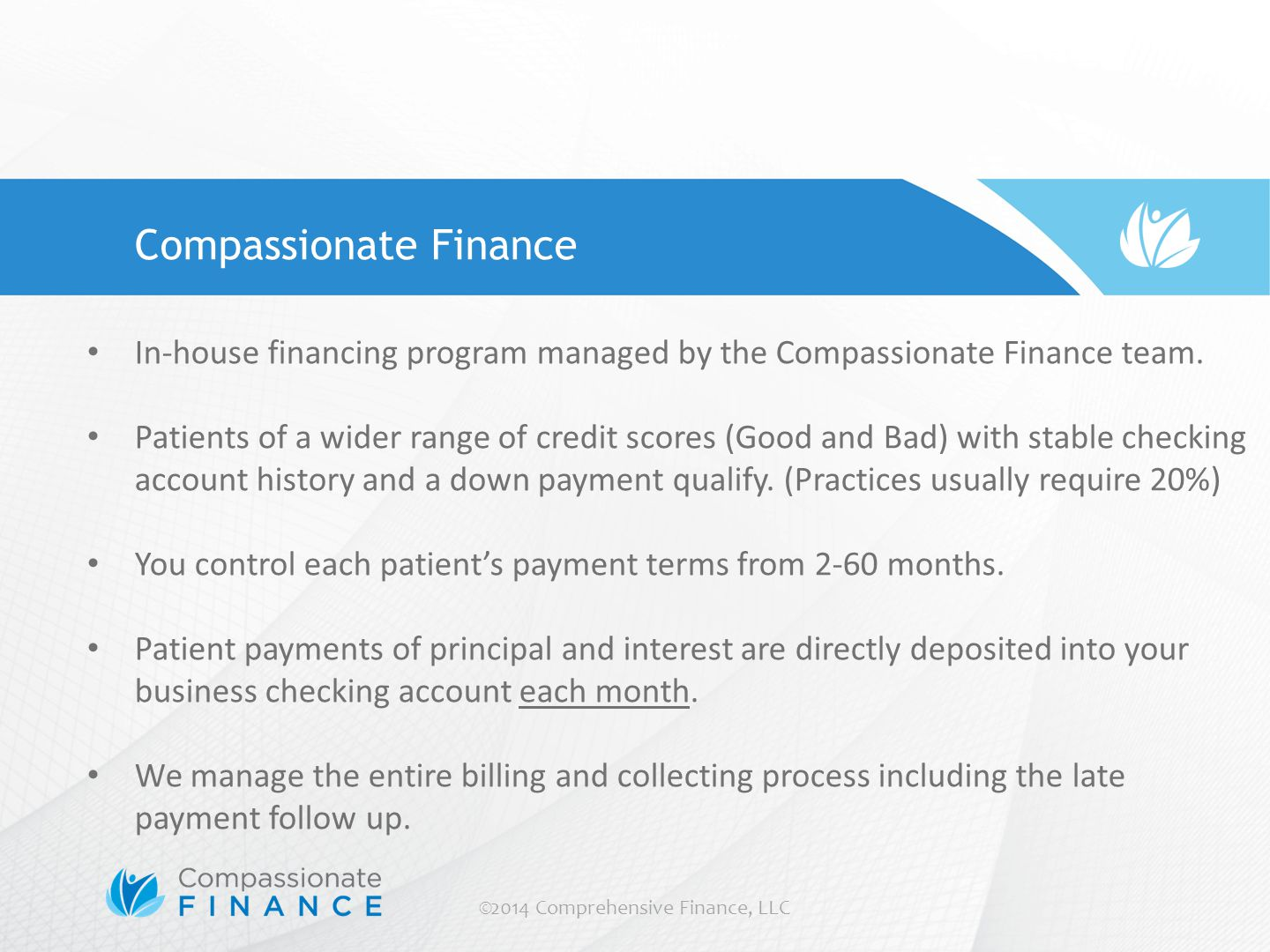 ©2014 Comprehensive Finance, LLC