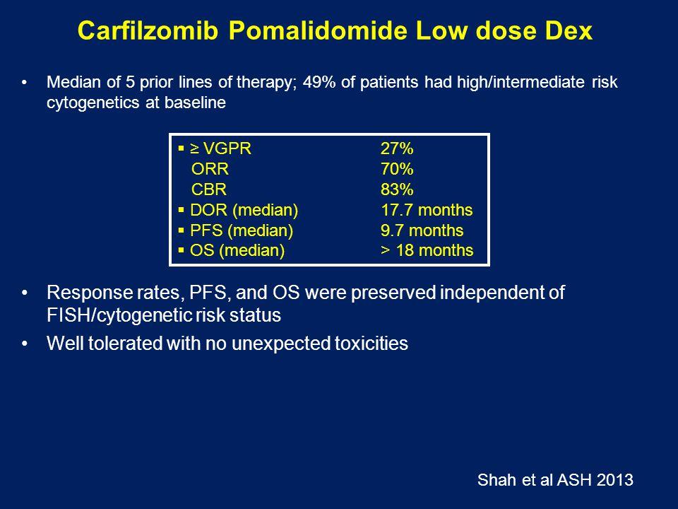 Carfilzomib Pomalidomide Low dose Dex