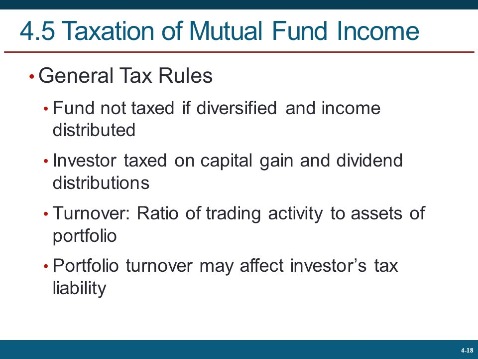 4.5 Taxation of Mutual Fund Income