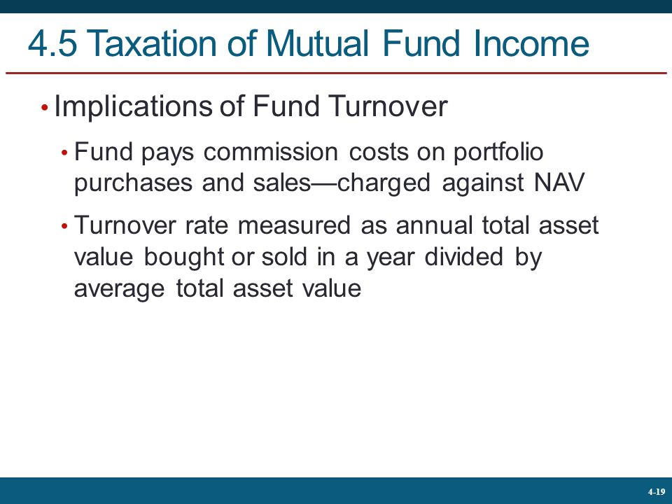 4.5 Taxation of Mutual Fund Income