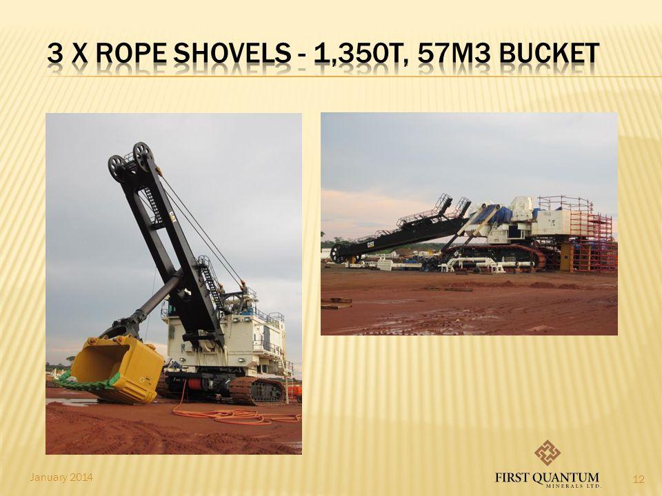 3 x ROPE SHOVELs - 1,350t, 57m3 bucket
