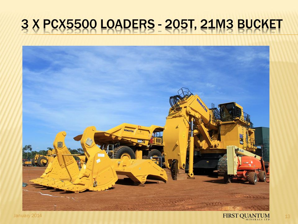 3 x PCX5500 LOADers - 205t, 21m3 bucket