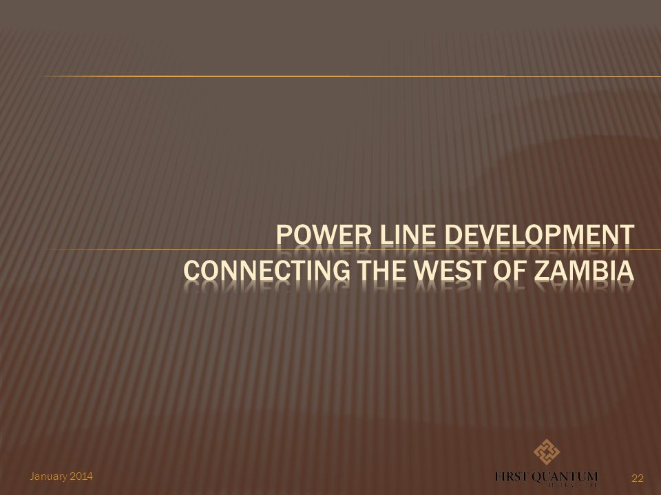 Power line development connecting the west of Zambia