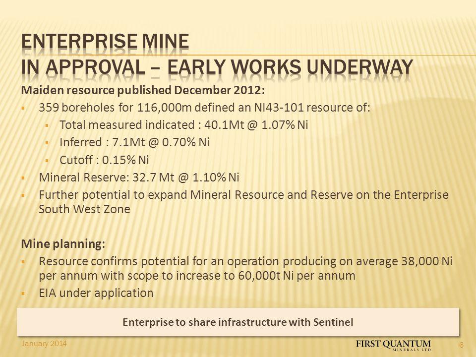 Enterprise MINE IN APPROVAL – EARLY WORKS UNDERWAY
