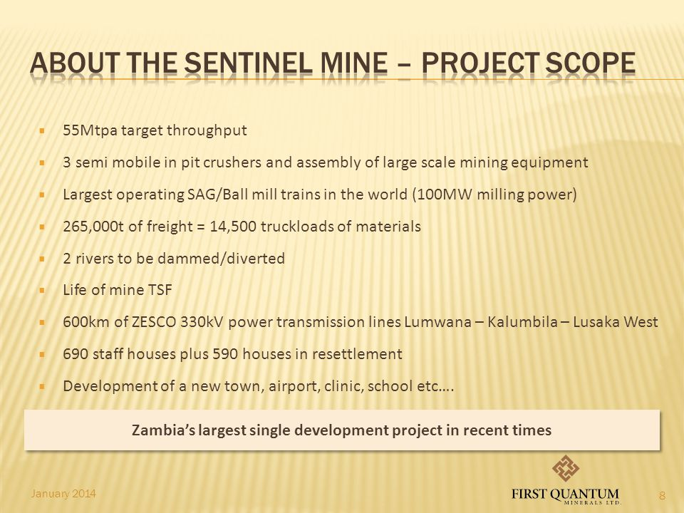 ABOUT THE SENTINEL MINE – Project Scope