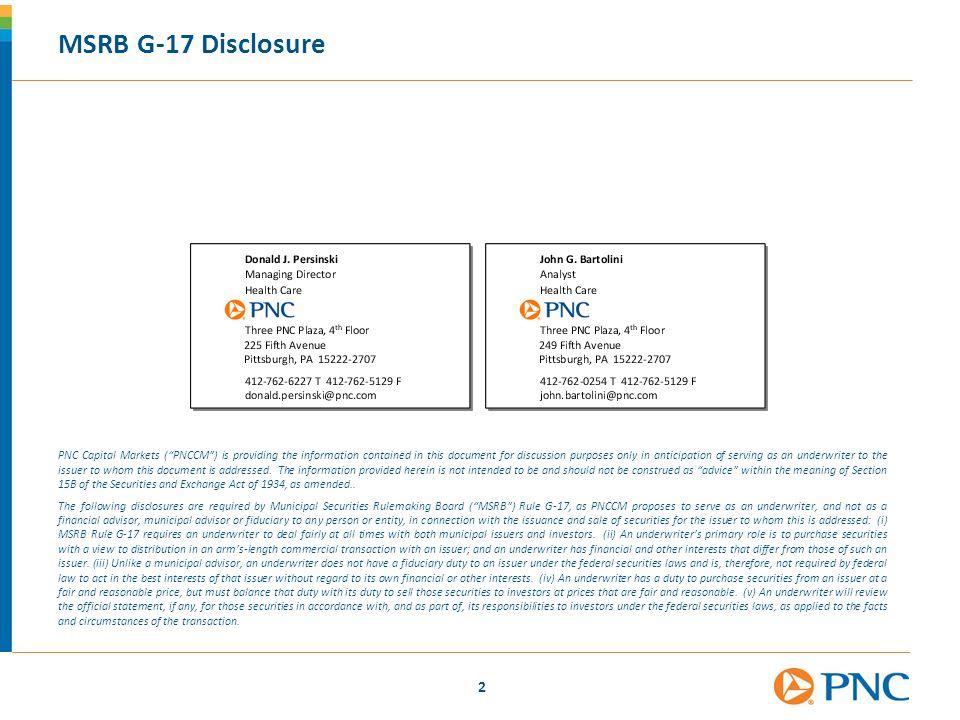 MSRB G-17 Disclosure