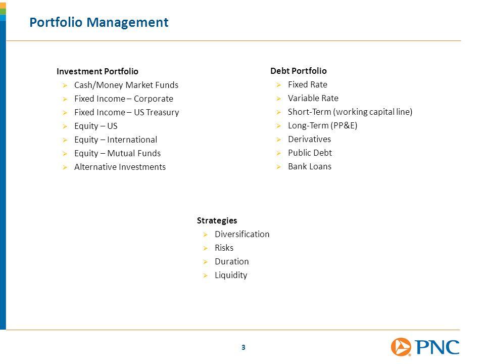 Portfolio Management Investment Portfolio Debt Portfolio