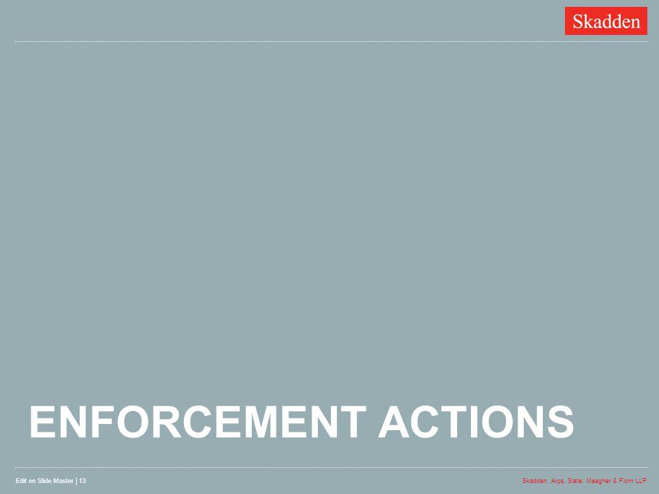 Enforcement actions