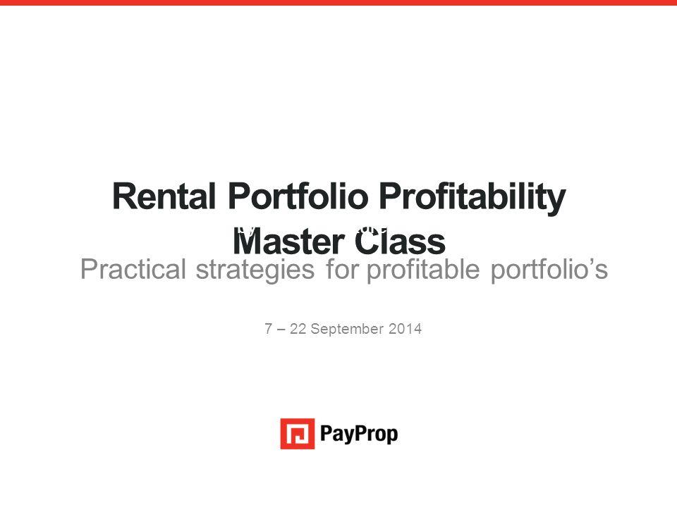 Rental Portfolio Profitability Master Class