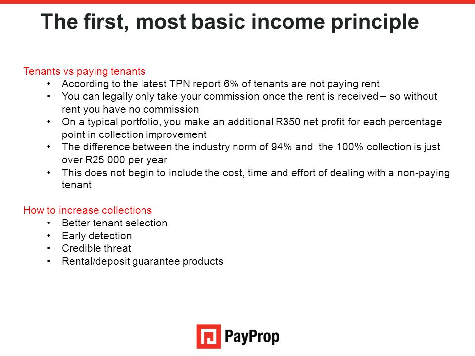 The first, most basic income principle