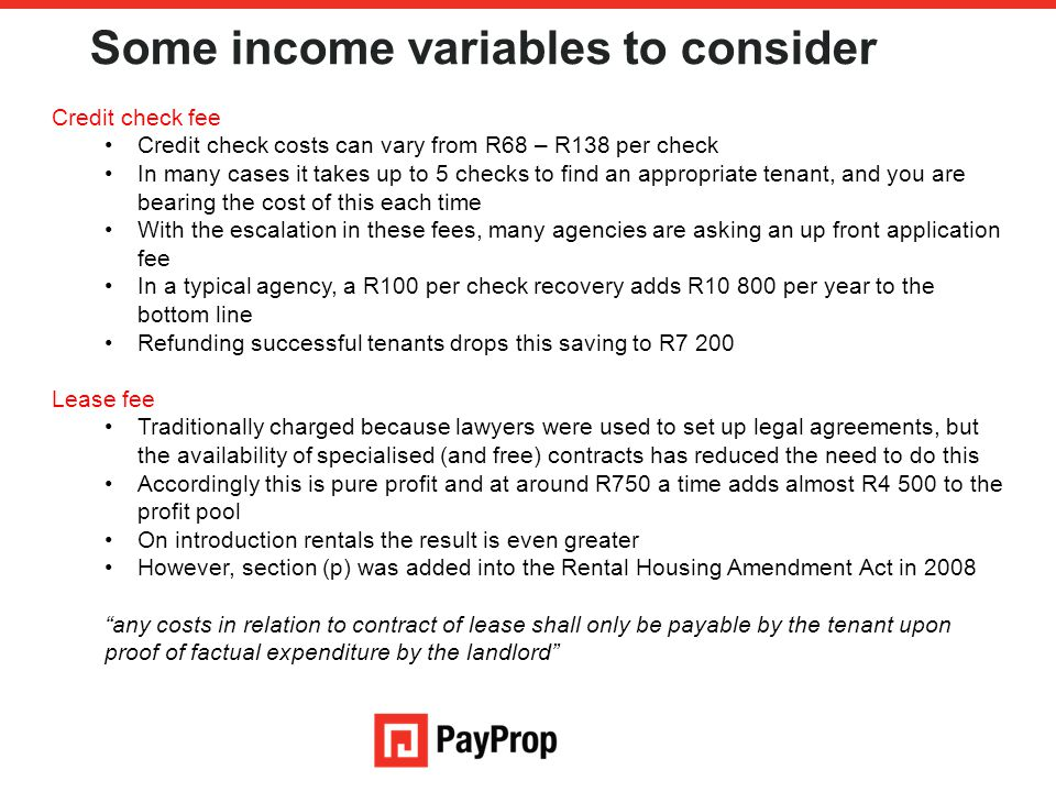 Some income variables to consider